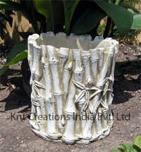 White Bamboo Planter
