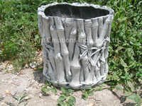 Grey Bamboo Planter