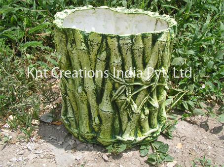 Green Bamboo Planter