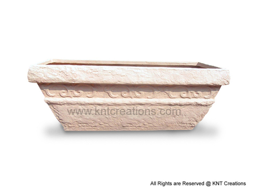 Stone Art Horizontal Planter