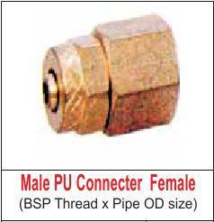 MALE PU CONNECTOR (FEMALE)