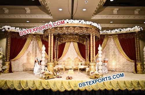Gurrati Wedding Wooden Carved Wedding Mandap