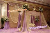 Nigerian Wedding Stylish Lehariya Backdrop