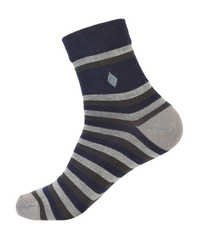Extra Stretchable Motif Inserted Stripes Ankle Sox
