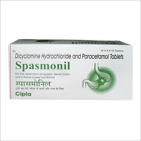 Dicyclomine Hydrochloride Paracetamol