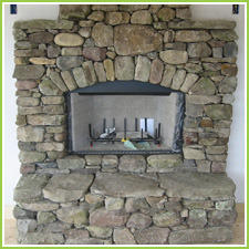 Indian Sandstone Fireplace