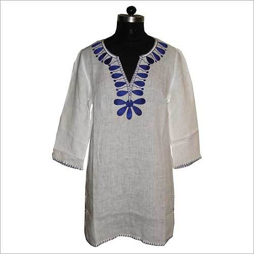 Embroidered Ladies Linen Tunic