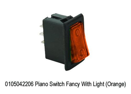 Piano Switch Fancy With Light (Orange)