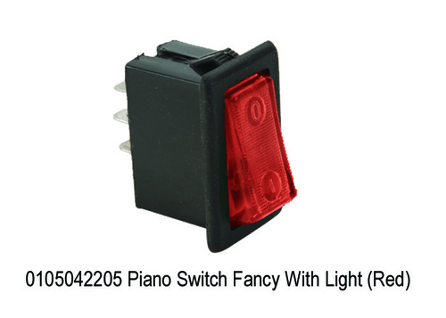Piano Switch Fancy With Light (Red)