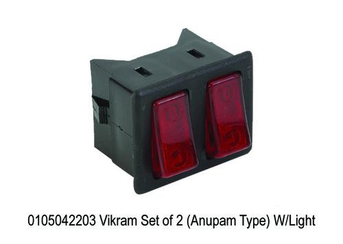 Vikram Set of 2 (Anupam Type) WLight