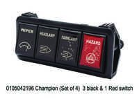 Champion (Set of 4) 3 black & 1 Red switch