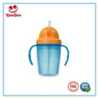 Wide Neck Straw Baby Training Cups 230ml