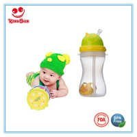 300ml Sippy Baby Training Cup with Straw and Strap
