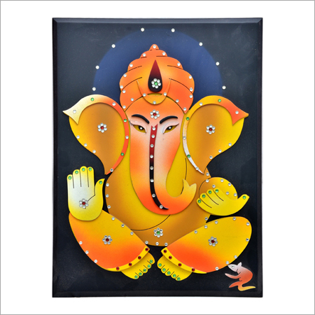Wooden Ganesh Wall Hanging