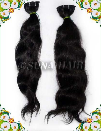 Wavy hot quality shining remy human hair extension