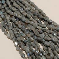 labradorite  coated faceted nuggets