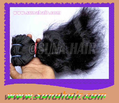 Curly natural soft feeling remy straight human hair extension