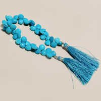 turquoise  faceted small almond