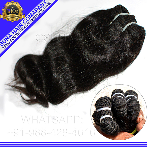Natural remy virgin tangle free remy high quality human hair