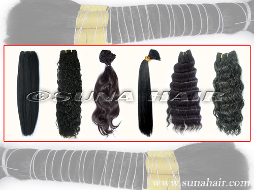 quality natural manufacturing price remy wavy human hair