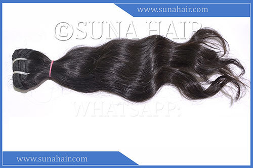 Remy quality natural silky straight human hair