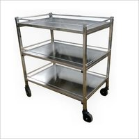 Mortuary Instrument Trolley 3 Tier