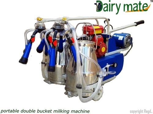 Motor Cum Engine Operated Milking Machine