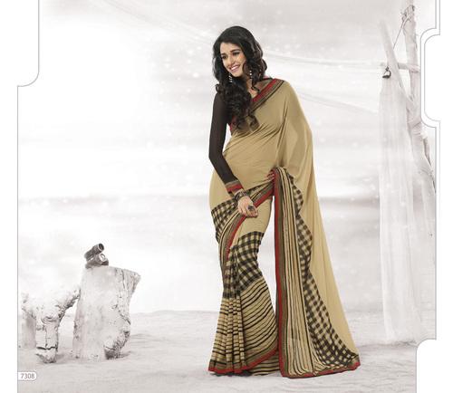 Designer  Brown Colour Sarees