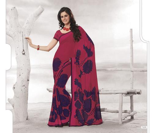 Designer  Red Colour Sarees