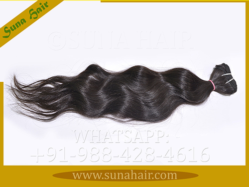 silky curly machine weft unprocessed human hair