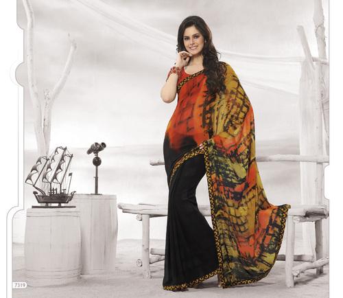 Designer Multi Colour Sarees