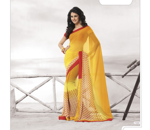 Designer Yellow Colour  Sarees