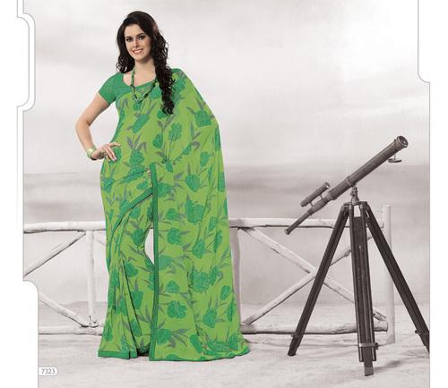 Designer Green Colour Sarees