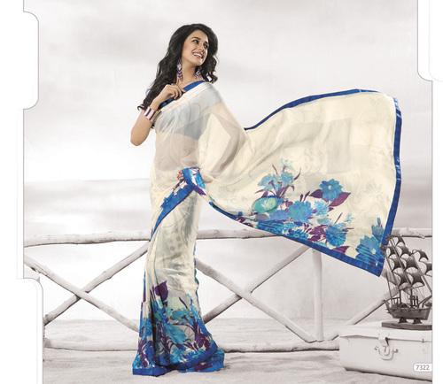Designer  White Colour Sarees
