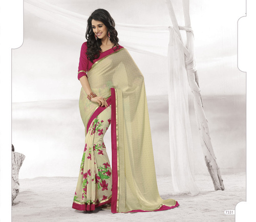 Designer Brown Colour Sarees