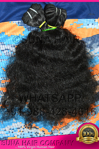 High quality natural curly human hair extension