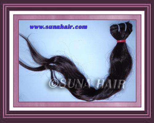 Virgin tangle free black color human hair