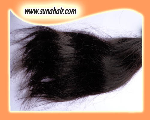 Wavy soft looking double weft human hair