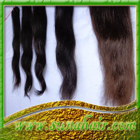 Machine made weft natural soft looking human hair