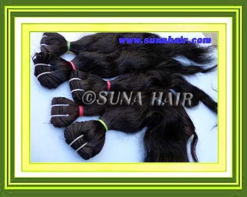 Curly black color charming human hair