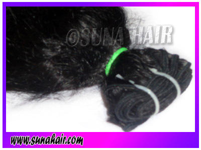 Attractive hot wavy human hair extension