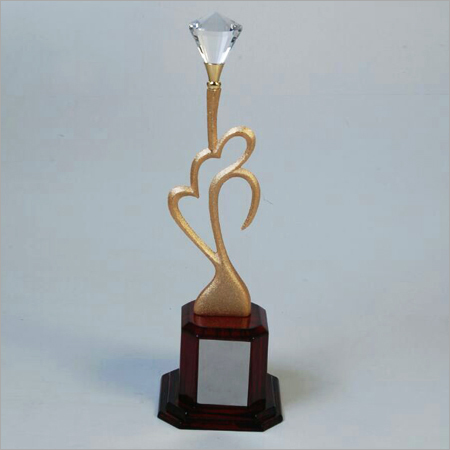 Diamond Engraved Metal Trophy