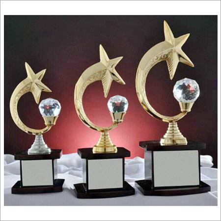 Crystal Metal Trophy