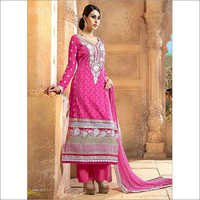 Pink Embriodered Dress Material
