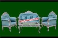 Silver Metal Carved Home Furniture