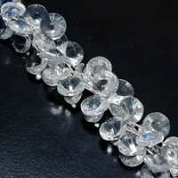 CRYSTAL COIN 14MM FACETED  12 PCS LOOSE BEADS
