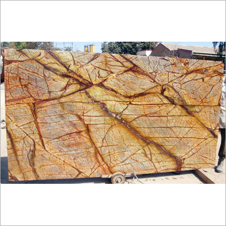 Rain Forest Golden Red Marble