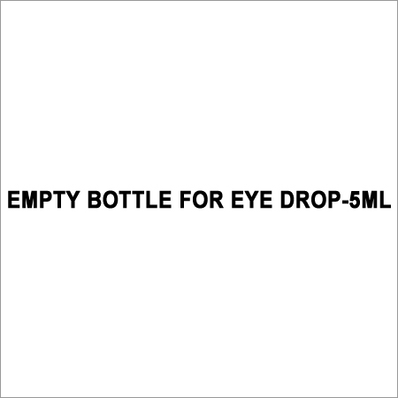 Eye Drop Empty Bottle
