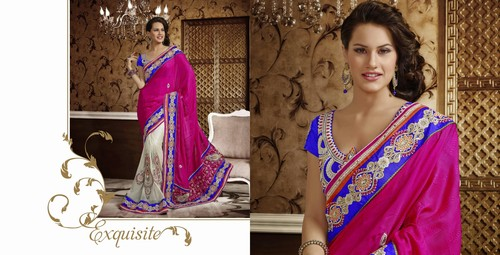 Fancy Pink Designer Saree