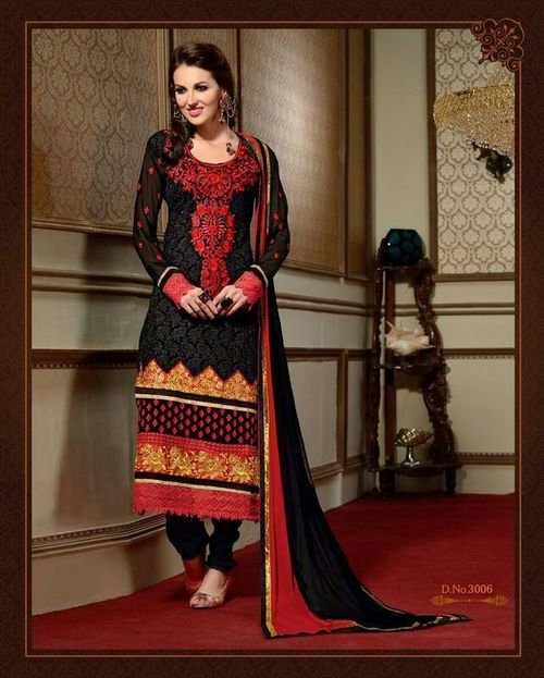Georgette Long Salwar Kameez